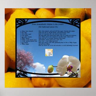 Real Lemon Pie Poster
