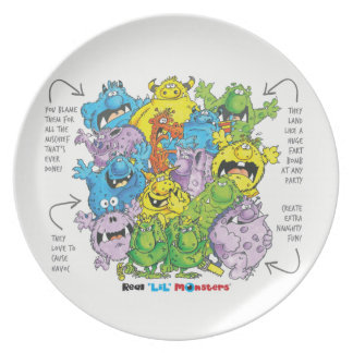 Real 'lil' Monsters plate