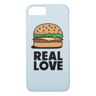 """REAL LOVE"" Funny Burger Fast Food Lovers Case"