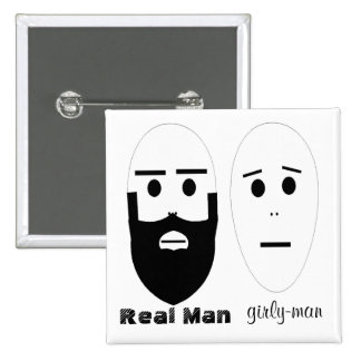 Real Man 15 Cm Square Badge
