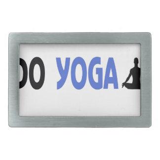 real man do yoga belt buckle