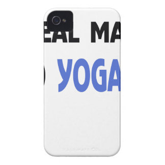real man do yoga Case-Mate iPhone 4 case