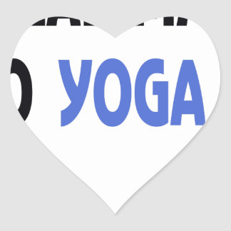 real man do yoga heart sticker