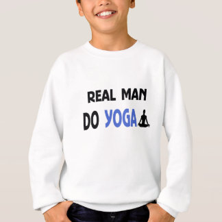 real man do yoga sweatshirt