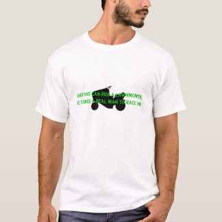 Real Man Mower Lawnmower Racing - V2 T-Shirt