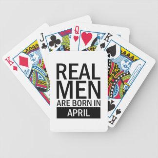 Real Men April Bicycle Playing Cards