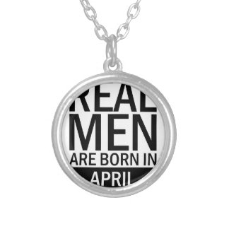 Real Men April Silver Plated Necklace