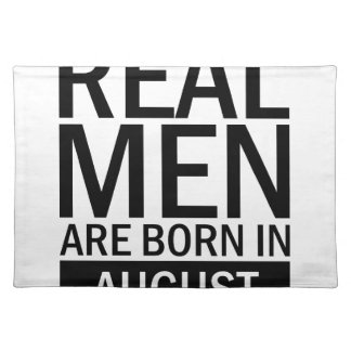 Real Men August Placemat