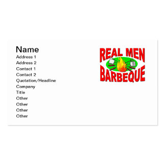 Real Men Barbeque. Funny Design for The BBQ King. Pack Of Standard Business Cards