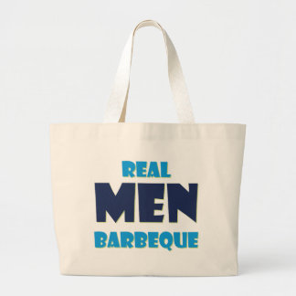 Real Men Barbeque Tote Bags
