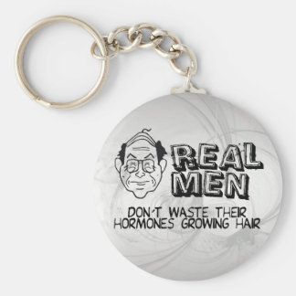 Real Men Basic Round Button Key Ring