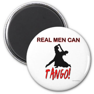 Real Men Can Tango 6 Cm Round Magnet