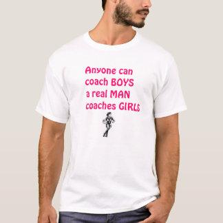Real Men Coach Girls-Basketball T-Shirt