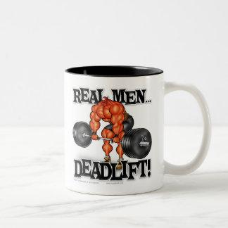 REAL MEN DEADLIFT! Two-Tone COFFEE MUG