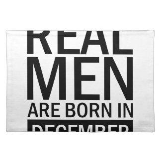 Real Men December Placemat