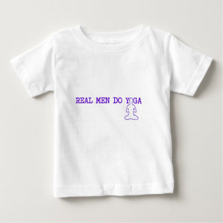 real men do yoga baby T-Shirt