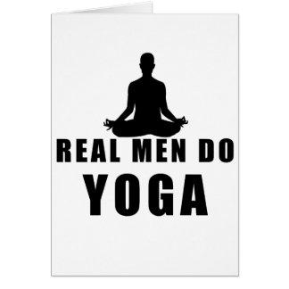 real men do yoga card