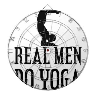 Real Men Do Yoga Dartboard