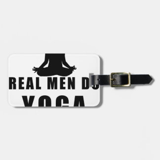 real men do yoga luggage tag