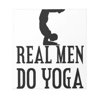 Real Men Do Yoga Notepad