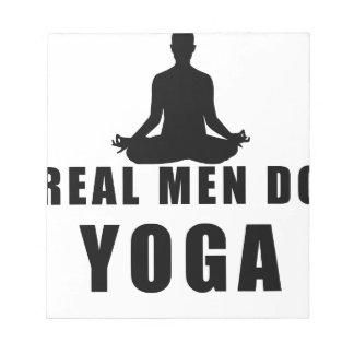 real men do yoga notepad