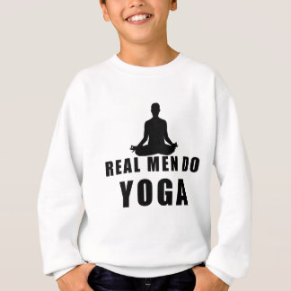 real men do yoga sweatshirt