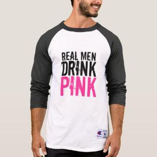 Real Men Drink Pink Plexus Slim Baseball Shirt