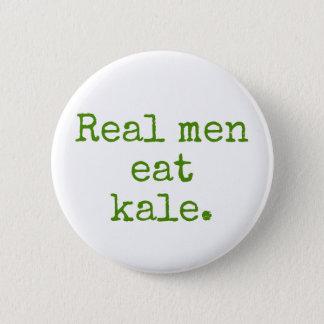 Real Men Eat Kale Vegan Button