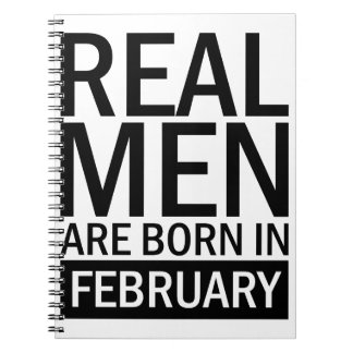 Real Men February Notebook