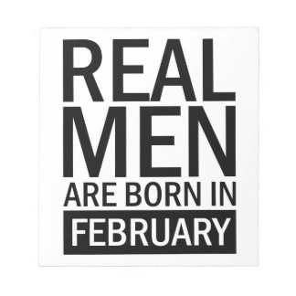 Real Men February Notepad