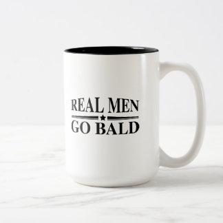 Real Men Go Bald Two-Tone Coffee Mug