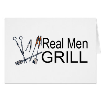 Real Men Grill Card