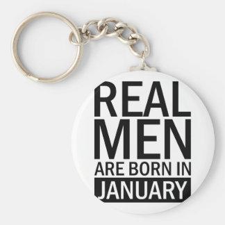 Real Men January Key Ring