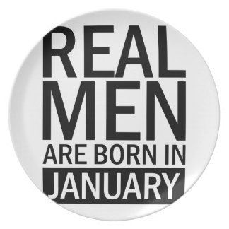 Real Men January Plate