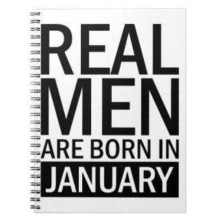 Real Men January Spiral Notebook