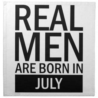 Real Men July Napkin
