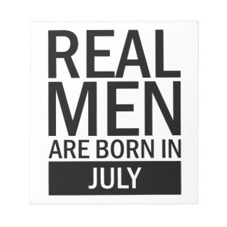 Real Men July Notepad