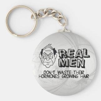 Real Men Basic Round Button Key Ring