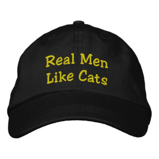 Real Men Like Cats Embroidered Cap