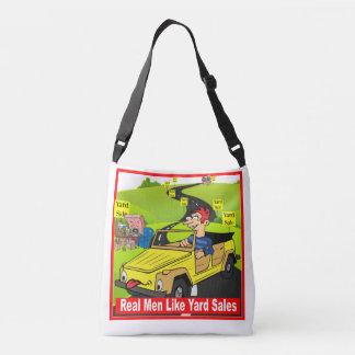 Real Men Like Garage Sales Cross Over Body Bag Tote Bag