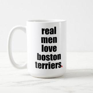 Real Men Love Boston Terriers Mug