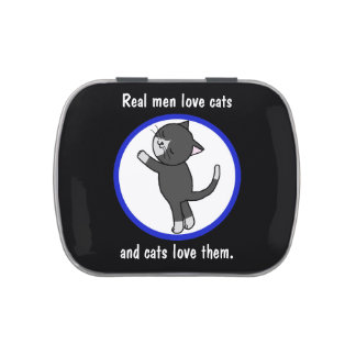 Real Men Love Cats and Cats Love Them Candy tin