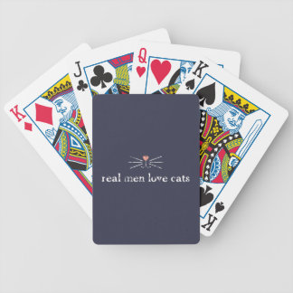 Real Men Love Cats Bicycle Playing Cards