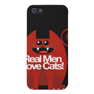 REAL MEN LOVE CATS CASE FOR iPhone 5/5S
