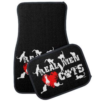 Real men love cats, cats have 9 lives car mat