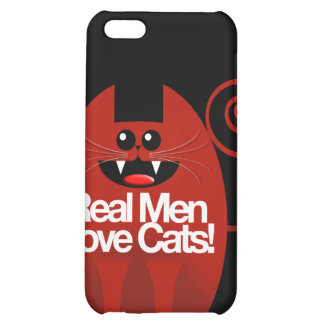 REAL MEN LOVE CATS COVER FOR iPhone 5C