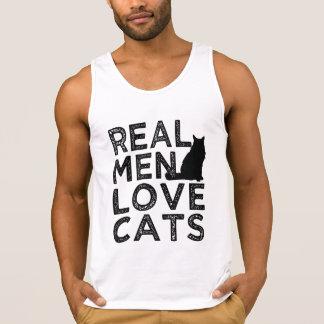 Real Men Love Cats funny tank top