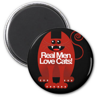 REAL MEN LOVE CATS MAGNETS