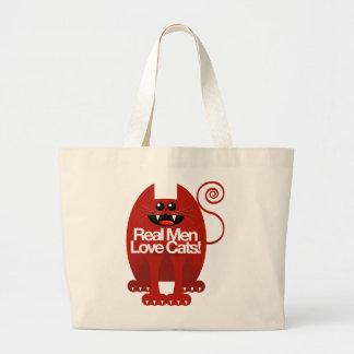 REAL MEN LOVE CATS TOTE BAGS