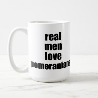 Real Men Love Pomeranians Basic White Mug